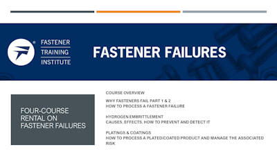 Four-Course Digital Rental on Fastener Failures