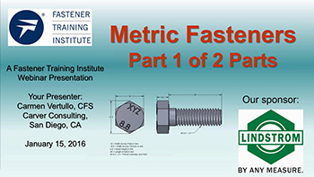 Metric Fasteners Part 1 - Training Video