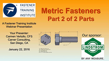 Metric Fasteners Part 2 - Training Video