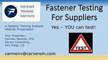 Testing for Suppliers - Training Video