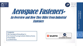 Aerospace Fasteners an Overview - Training Video